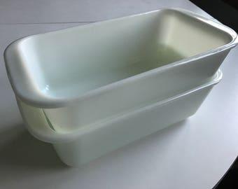 Pyrex #213 white milk glass bread pan