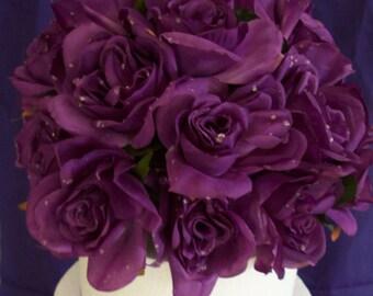 Purple Floral Cake Topper