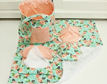 Baby Doll Diaper Bag with Blanket/Wipes Case/Diaper/Baby Doll Bag/Bitty Baby
