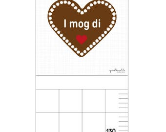 Bar for nursery - gingerbread heart