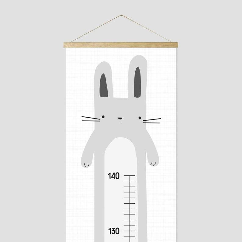 Messlatte für Kinder Hase Geschenk zur Geburt Grow Chart