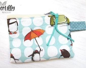 """Wallet Mini bag """"Penguins"""" Schoolchild Kindergarten child School bag"""
