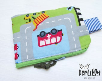 Wallet -Mini bag Vehicles and streets Children's wallet School bag Emergency bag Paving bag