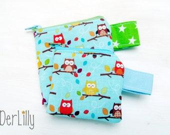 Mini Purse Mini-Bagsin Drug-Täschlein Paving-Bag-Mini-Pharmacy Tampon-Täschlein Owls