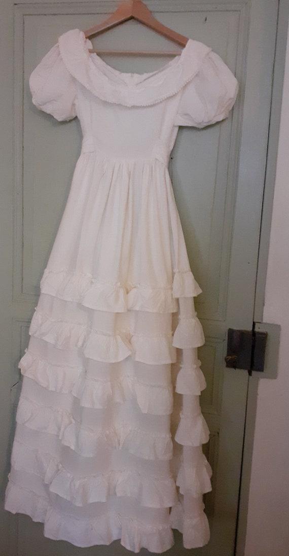 Laura Ashley wedding dress original 1970s