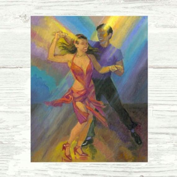 Salsa Watercolour Print Salsa Dance Wall Art Dancing Wall Decor