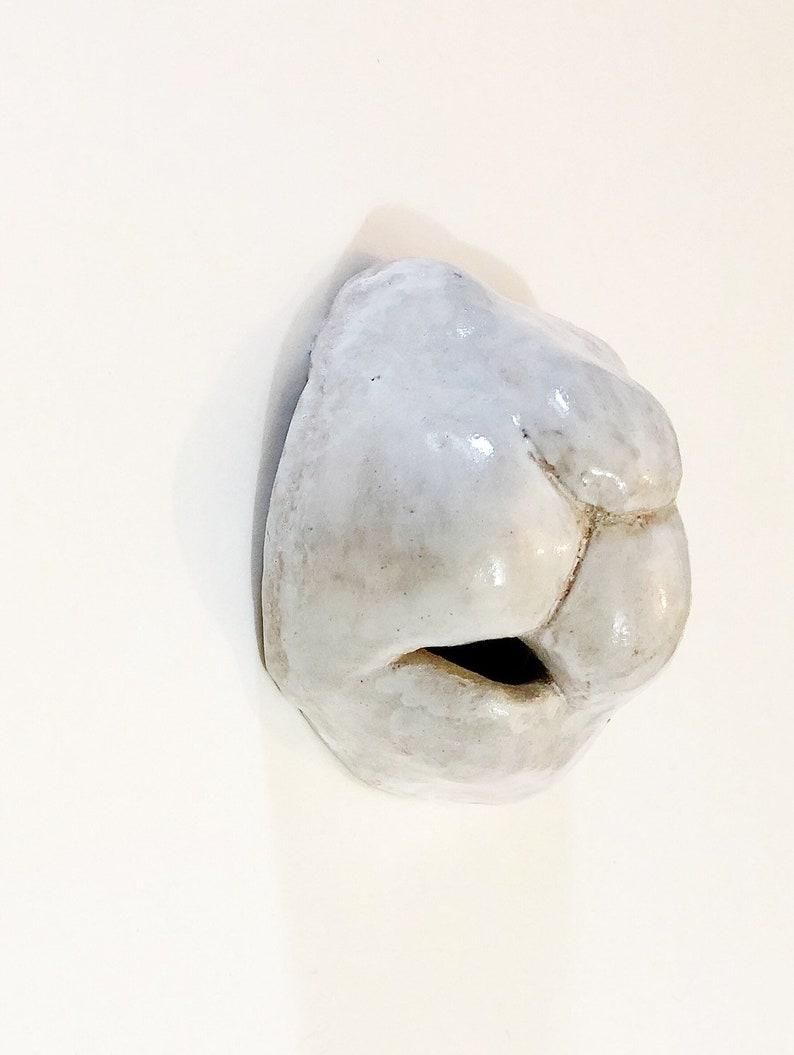 White Bunny Nose  Ceramic Rabbit Face  Expression image 0