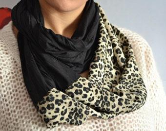 Long foulard, écharpe noire, foulard Leopard, foulard imprimé Animal,  Double-tour Acarf, écharpe de mode, foulards de femmes, cadeau pour femme,  mode pour ... cce14c05bad