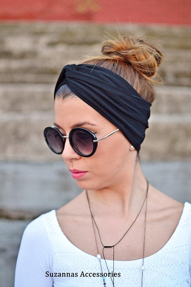 687452786ea Black Headband Yoga Headband Workout Headband Twist