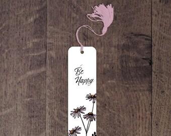 Be Happy aluminum bookmark