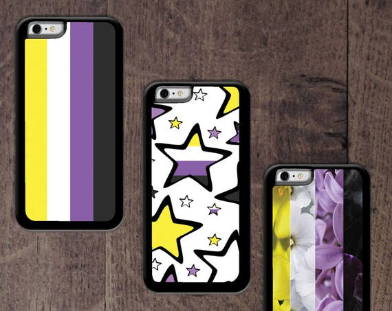 Nonbinary flag colors phone case