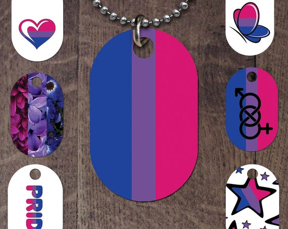 Bisexual flag dog tag
