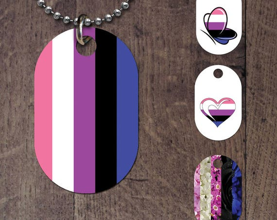 Genderfluid Flag Dog Tag