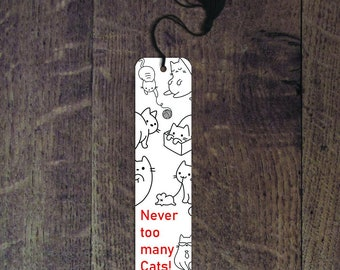 Never too many cats bookmark