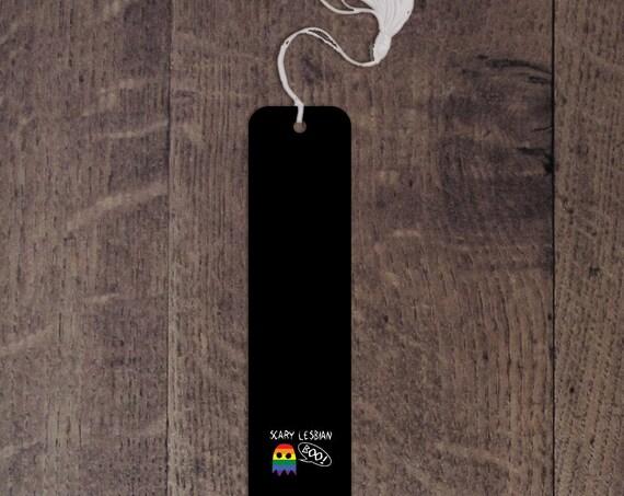 Scary Lesbian aluminum bookmark