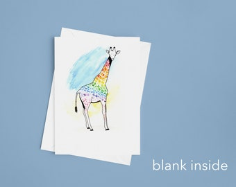 LGBT giraffe greeting card