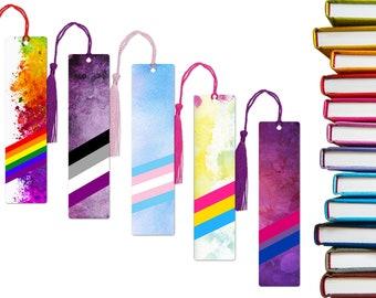 Pride flag aluminum bookmarks