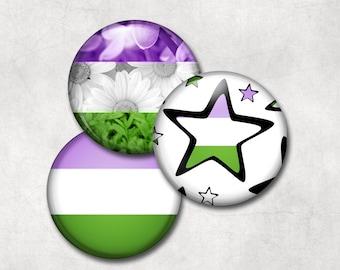 Genderqueer Pride Buttons
