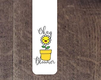 Ok bloomer aluminum bookmark