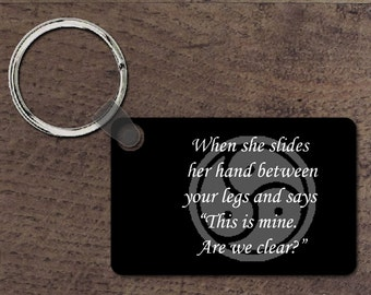 Her hand key chain