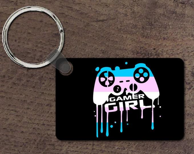 Trans gamer girl key chain