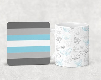 Demiboy mug with or without coordinating coaster