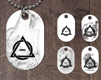 Therian symbol -animal background dog tag