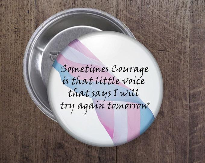 Transgender courage Button