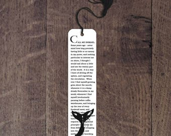 Moby Dick aluminum bookmark