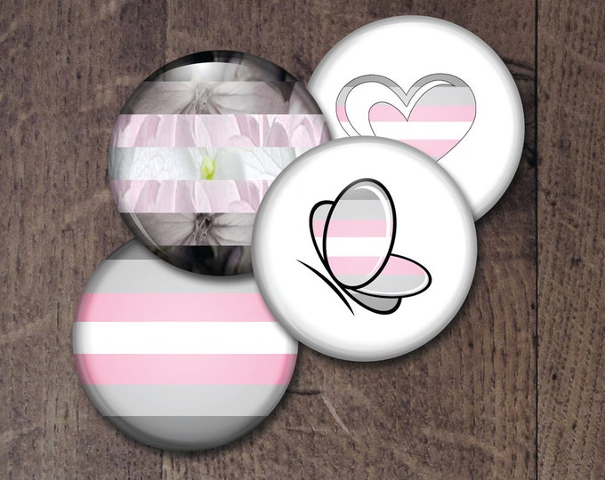 Demigirl Pride Buttons