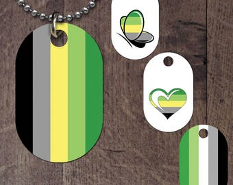 Aromantic Flag Dog Tag