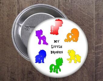My little Bronies Button