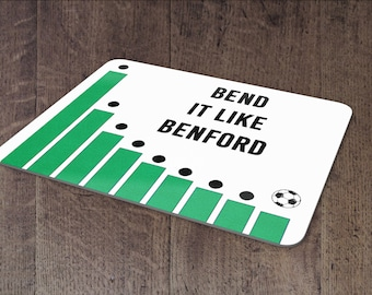 Bend it like Benford mouse pad