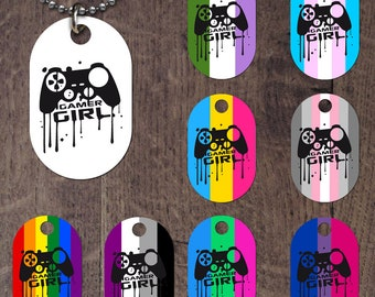 Gamer Girl Dog Tag