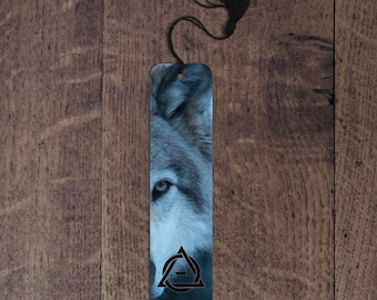 Therian wolf aluminum bookmark