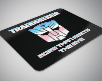 Transgender Transformer mouse pad
