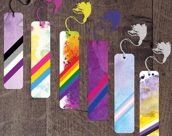 Pride flag aluminum bookmarks