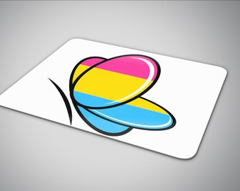 Pansexual Butterfly mouse pad