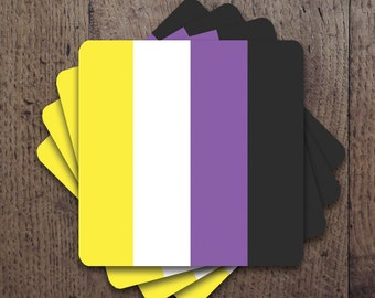 Nonbinary Flag Coaster Set