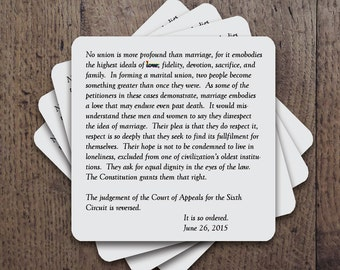 SCOTUS ruling on gay marriage   It is so ordered  Coaster Set
