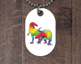 LGBT Raptors dog tag