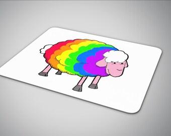 Rainbow Sheep mouse pad