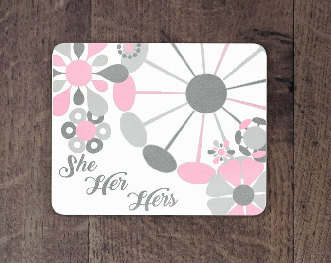 Demigirl Pronouns mouse pad