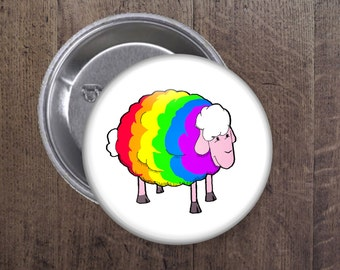 Rainbow Sheep button