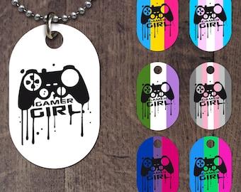 Gamer Girl Dog Tag