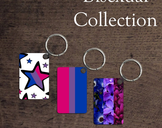 Bisexual Pride flag key chains