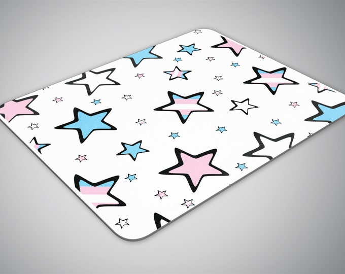 Transgender Stars mouse pad