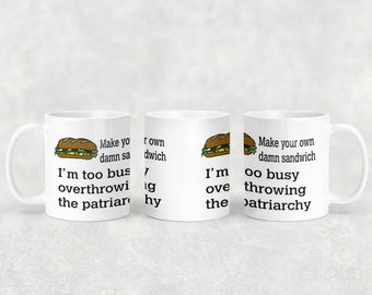 Patriarchy mug with or without coordinating coaster
