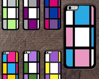Mondrain inspired phone cases