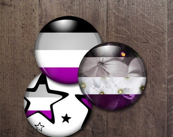 Asexual Pride Buttons